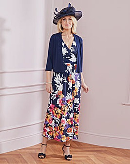 Nightingales Print Maxi Dress and Bolero