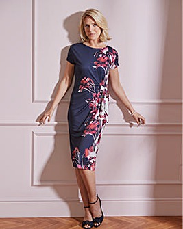 Nightingales Side Tie Print Dress