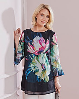 Nightingales Placement Print Blouse