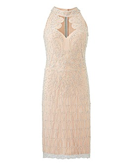 Joanna Hope Beaded Bodycon Dress