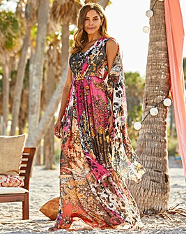 Joanna Hope Maxi Dress with Scarf