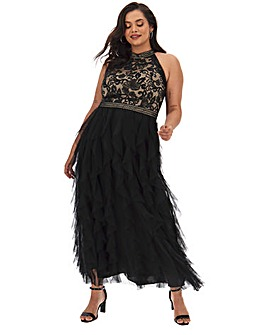 Joanna Hope Embroidered Frill Hem Maxi
