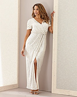 Joanna Hope Sequin Wrap Maxi Dress