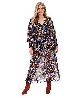 Joanna Hope Folk Maxi Dress