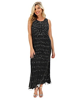 Joanna Hope Linear Beaded Maxi Dress