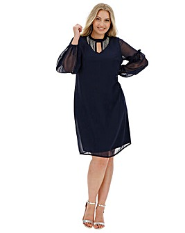 Joanna Hope Diamante Neck Tunic Dress