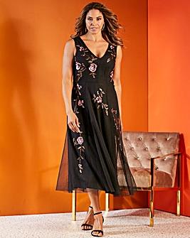 Joanna Hope Placement Beaded Maxi Dress