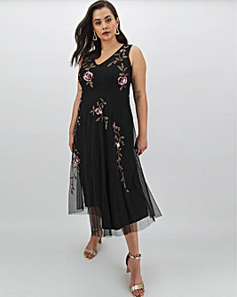 Joanna Hope Placement Beaded Maxi Dress