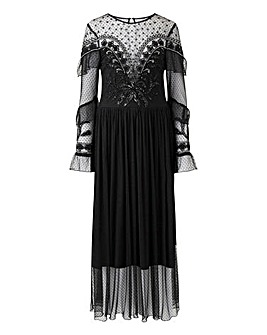 Joanna Hope Western Beaded Midi Dress