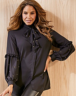 Joanna Hope Black Stud Blouse