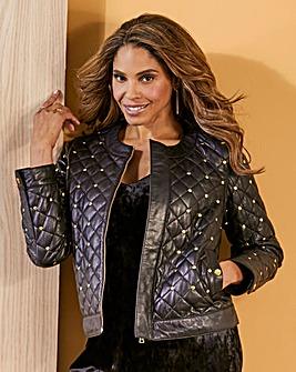 Joanna Hope Stud PU Jacket