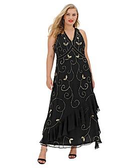 Joanna Hope Sequin Flounce Dress
