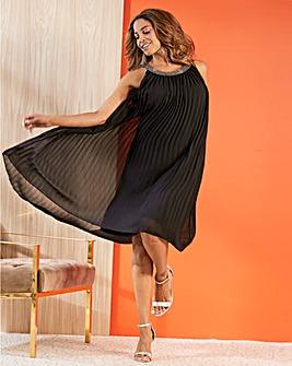 Joanna Hope Pleat Swing Dress