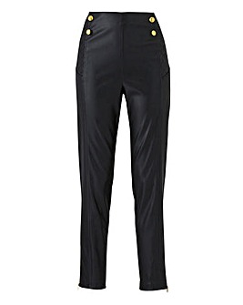 Joanna Hope Stud Faux Leather Trouser