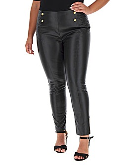 Joanna Hope Stud Faux Leather Trousers