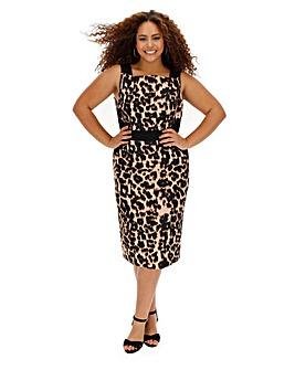 Joanna Hope Animal Print Shift Dress