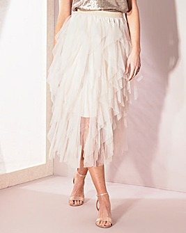 Joanna Hope Frill Mesh Skirt