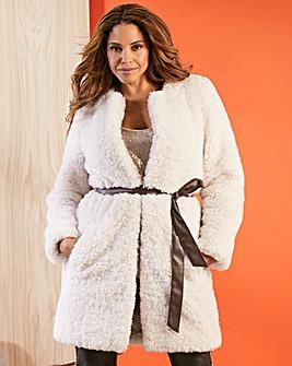 Joanna Hope Teddy Faux Fur with Belt