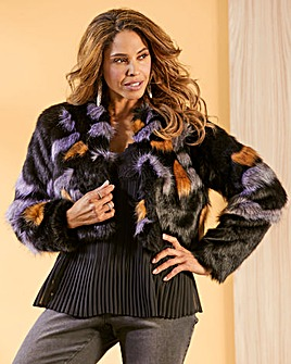 Joanna Hope Crop Fur Coat
