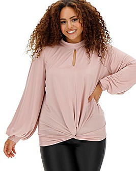 Joanna Hope Slinky Jersey Knot Top