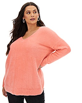 Joanna Hope Fluffy Wrap Back Jumper