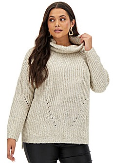 Joanna Hope Tinsel Knit Polo Jumper