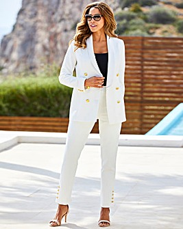 Joanna Hope Gold Button Slim Leg Trouser