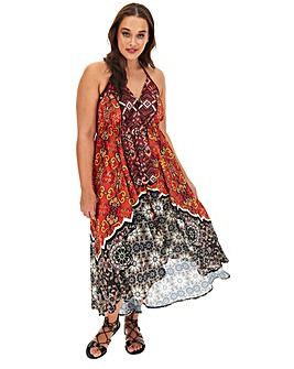 Joanna Hope Stud High Low Maxi Dress