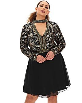 Joanna Hope Choker Fit N Flare Dress