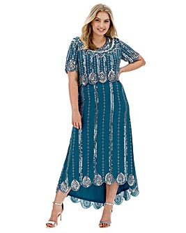 Joanna Hope Beaded Layer Dress