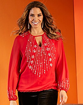 Joanna Hope Light Embellished Tunic