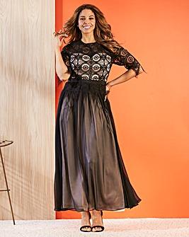 Joanna Hope lace contrast bodice dress