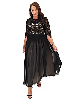 Joanna Hope lace contrast bodice dress