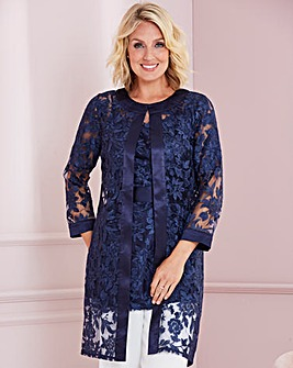 Nightingales Embroidered lace jacket