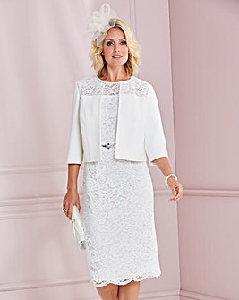 Nightingales Ivory Lace Dress And Jacket
