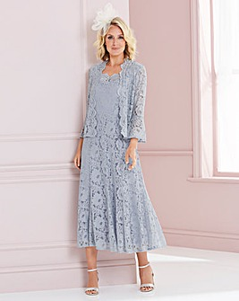 Nightingales Silver Lace Dress And Jacket