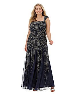 Joanna Hope Beaded Fit n Flare Maxi Dress