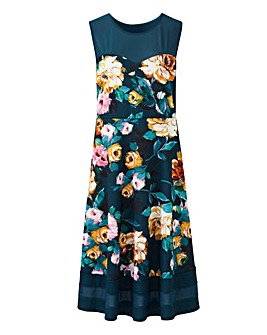 Joanna Hope Teal Print Prom Dress