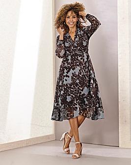 Joanna Hope Hi-Low Print Dress