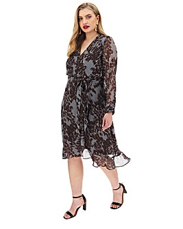 Joanna Hope Hi-Low Print Dress