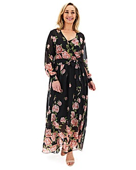 Joanna Hope Rose Print Maxi Dress