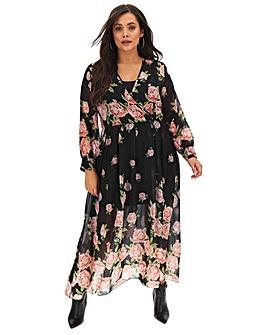 Joanna Hope Rose Print Maxi Dress