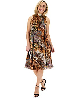 Joanna Hope Paisley Animal Swing Dress