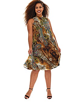 Joanna Hope Paisley Animal Swing Dress