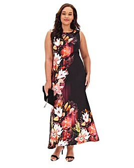 Joanna Hope Floral Scuba Maxi Dress