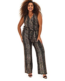 Joanna Hope Stretch Glitter Jumpsuit