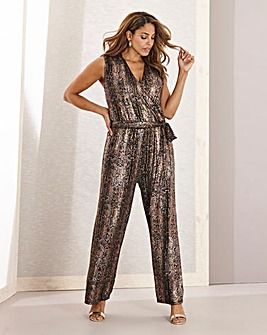 Joanna Hope Stetch Glitter Jumpsuit
