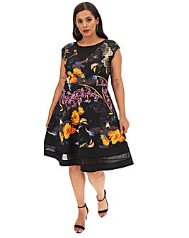 Joanna Hope Scuba Fit N Flare Dress