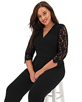 Joanna Hope Lace and ITY Jumpsuit