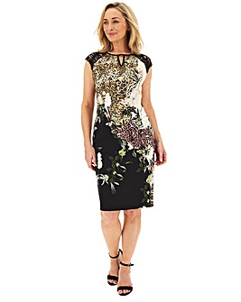 Joanna Hope Animal Floral Shift Dress